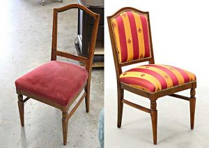 Antique-Dining-Chair-Restoration-Red-Fabric-Upholstered-Carrocel-Feb-2013